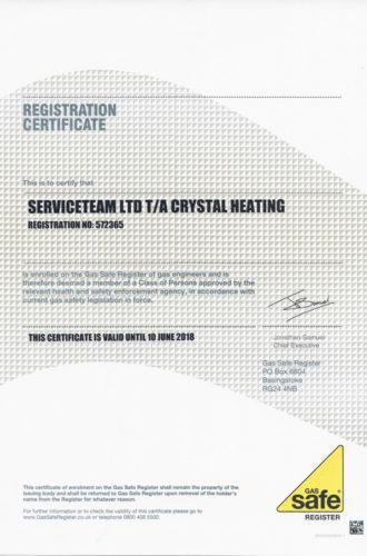 gas safe certificate serviceteam