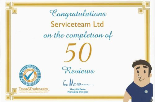 trusted trade 50 reviews certificate