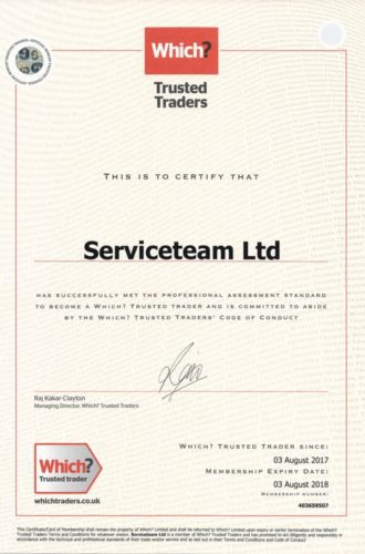 Which trusted traders certificate