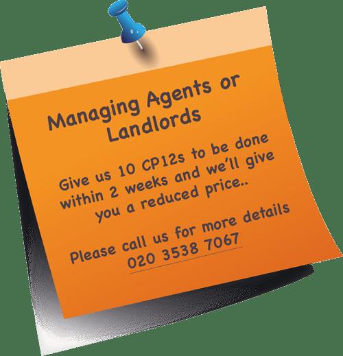Managing Agents or Landlords Offer london