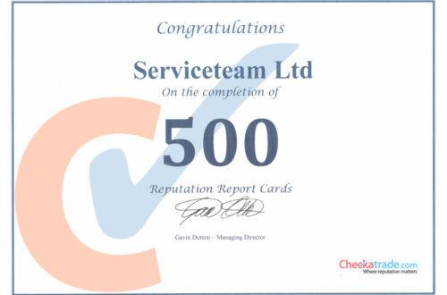 500 Reviews on Checkatrade serviceteam london