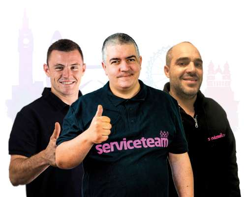Happy engineers London-Serviceteam